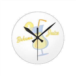 Bahama Juice Round Wall Clock