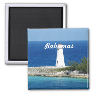 Bahama Lighthouse 2 Inch Square Magnet