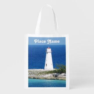 Bahama Lighthouse Reusable Grocery Bags