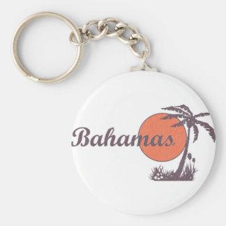 Bahama llevado llavero redondo tipo pin