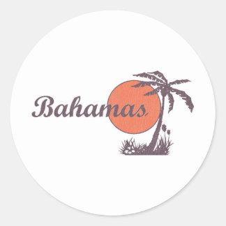Bahama llevado pegatina redonda
