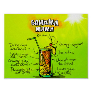"Bahama Mama 11"" x 8.5"", Value Poster Paper (Matte)"