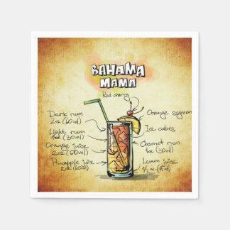 Bahama Mama Bartender Drink Recipe Paper Napkin