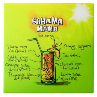 "Bahama Mama Cocktail 6"" x 6' Ceramic Photo Tile"