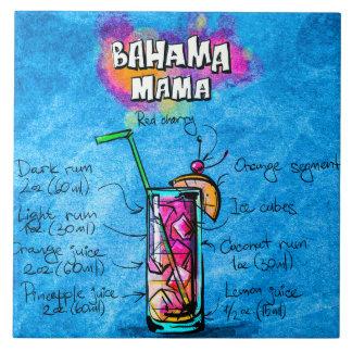"Bahama Mama Cocktail 6"" x 6"" Ceramic Photo Tile"