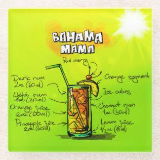 Bahama Mama Cocktail Recipe Glass Coaster
