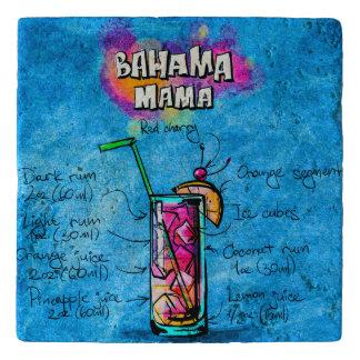 Bahama Mama Custom Travertine Stone Trivet