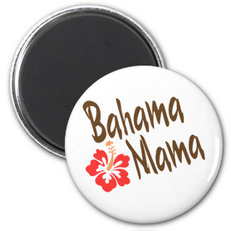Bahama Mama design with Hibisucus flower 2 Inch Round Magnet