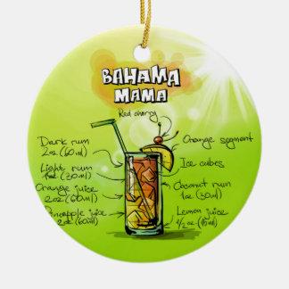 Bahama Mama Drink- Cocktail Gift Ceramic Ornament