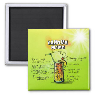 Bahama Mama Drink- Cocktail Gift Magnet