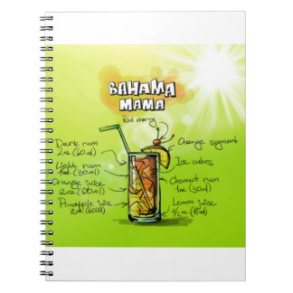Bahama Mama Drink- Cocktail Gift Notebook