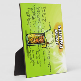 Bahama Mama Drink- Cocktail Gift Plaque