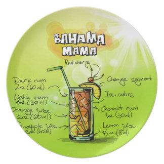 Bahama Mama Drink- Cocktail Gift Plate