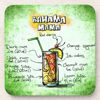 Bahama Mama Drink Recipe Beverage Coaster