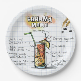 Bahama Mama Paper Plate