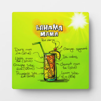 Bahama Mama Photo Plaque 5.25 x 5.25 with Easel
