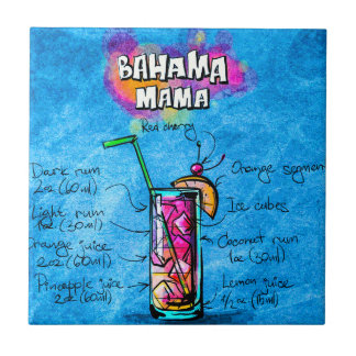 Bahama Mama Small 4.25 x 4.25 Ceramic Photo Tile