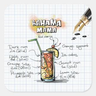 Bahama Mama Square Sticker