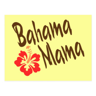 Bahama Mama with hibiscus Post Cards