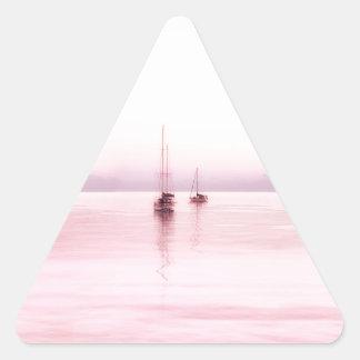Bahama Sunrise Triangle Stickers