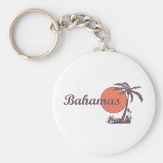 Bahama Worn Retro Basic Round Button Keychain