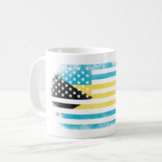 Bahamanian American Flag   Bahamas and USA Design Coffee Mug