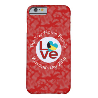 Bahamanian LOVE White on Red Barely There iPhone 6 Case