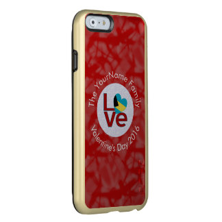 Bahamanian LOVE White on Red Incipio Feather Shine iPhone 6 Case