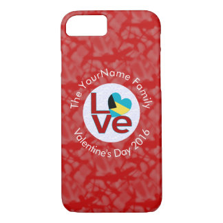 Bahamanian LOVE White on Red iPhone 7 Case