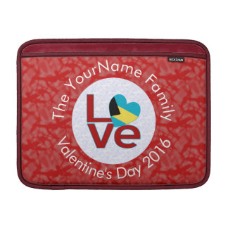 Bahamanian LOVE White on Red MacBook Air Sleeve