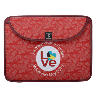 Bahamanian LOVE White on Red Sleeve For MacBooks