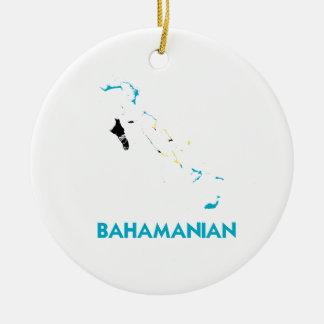 BAHAMANIAN MAP CERAMIC ORNAMENT