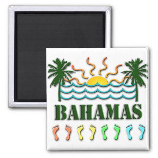 Bahamas 2 Inch Square Magnet