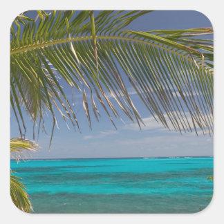 BAHAMAS, Abacos, Loyalist Cays, Man O'War Cay: Square Sticker