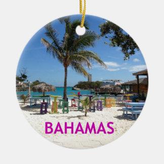 Bahamas Adorno Navideño Redondo De Cerámica