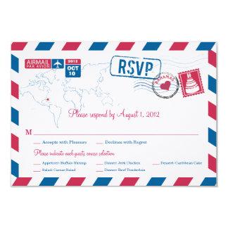 Bahamas Air Mail Wedding RSVP Card