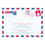 Bahamas Airmail Post Wedding Reception 5x7 Paper Invitation Card