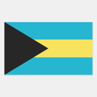 Bahamas/Bahamian Flag Rectangular Sticker