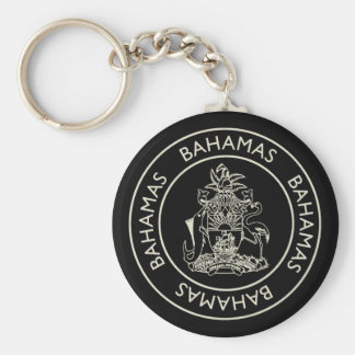 Bahamas Basic Round Button Keychain