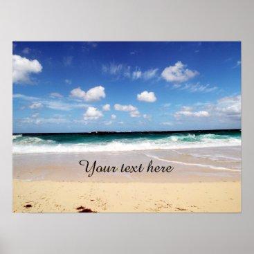 Beach Themed Bahamas Beach Poster