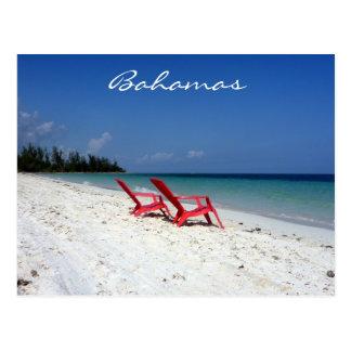 bahamas beach seats postcards