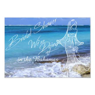 BAHAMAS BEACH SHORE Bridal Shower Card