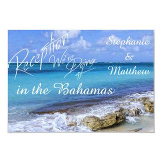 BAHAMAS BEACH SHORE Wedding Reception Card