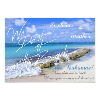 BAHAMAS BEACH SHORE Wedding We did it on the Beach Card