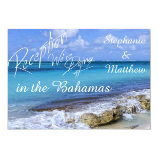 Bahamas Beach Wedding Reception Card