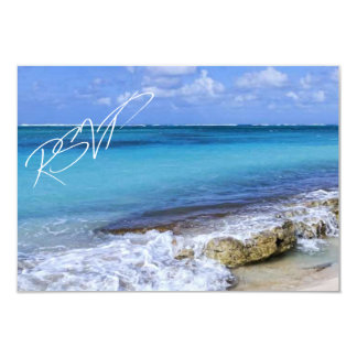 Bahamas Beach Wedding RSVP Card