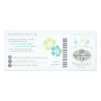 Bahamas Boarding Pass Wedding Invitation