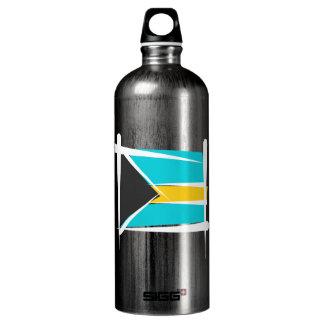 Bahamas Brush Flag Aluminum Water Bottle