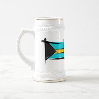 Bahamas Brush Flag Beer Stein