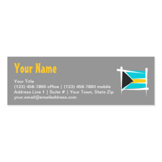 Bahamas Brush Flag Double-Sided Mini Business Cards (Pack Of 20)